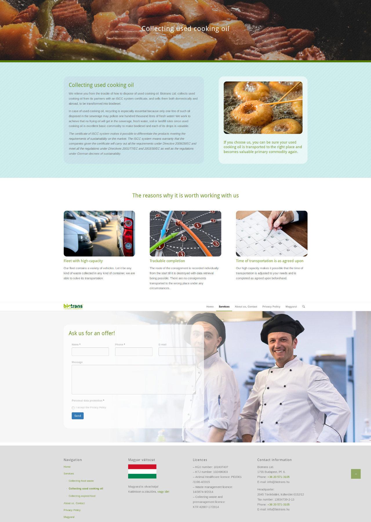 biotrans angol nyelvű honlap