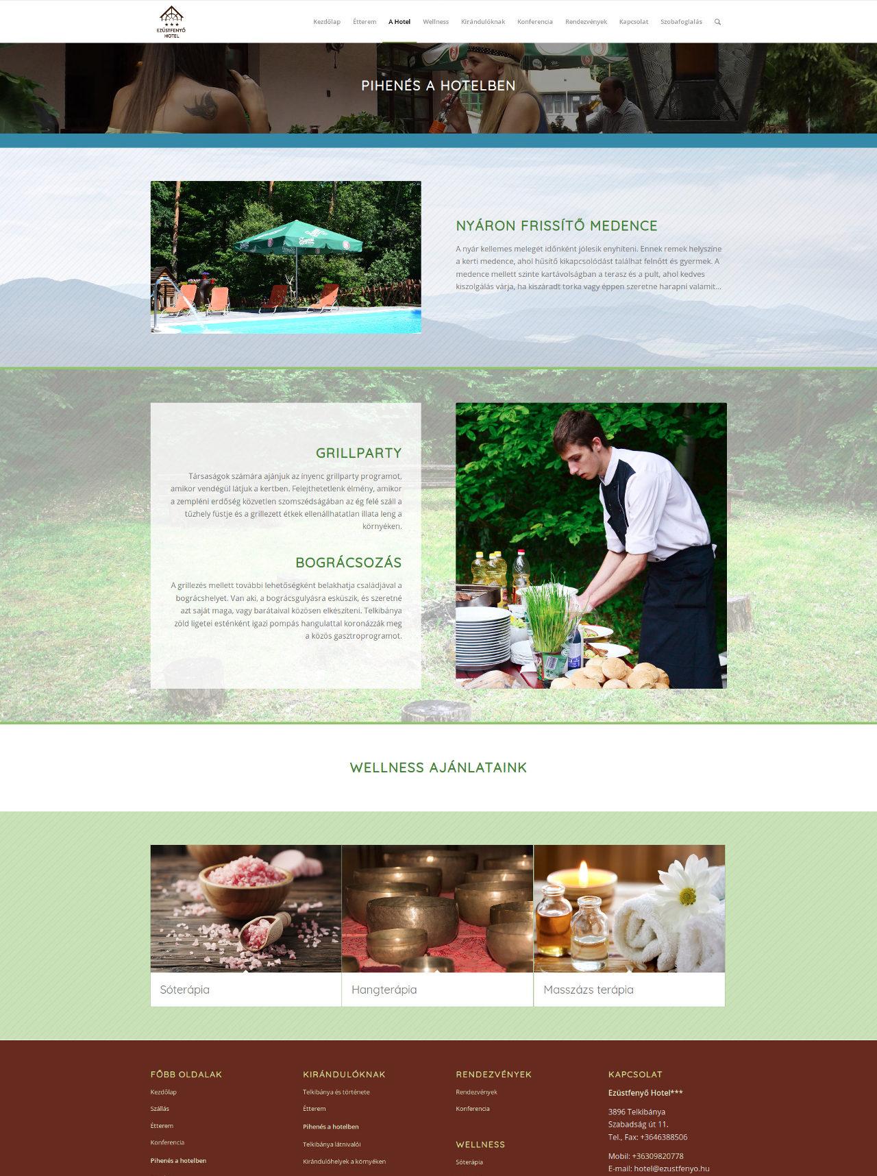 Ezüstfenyő Hotel honlapja