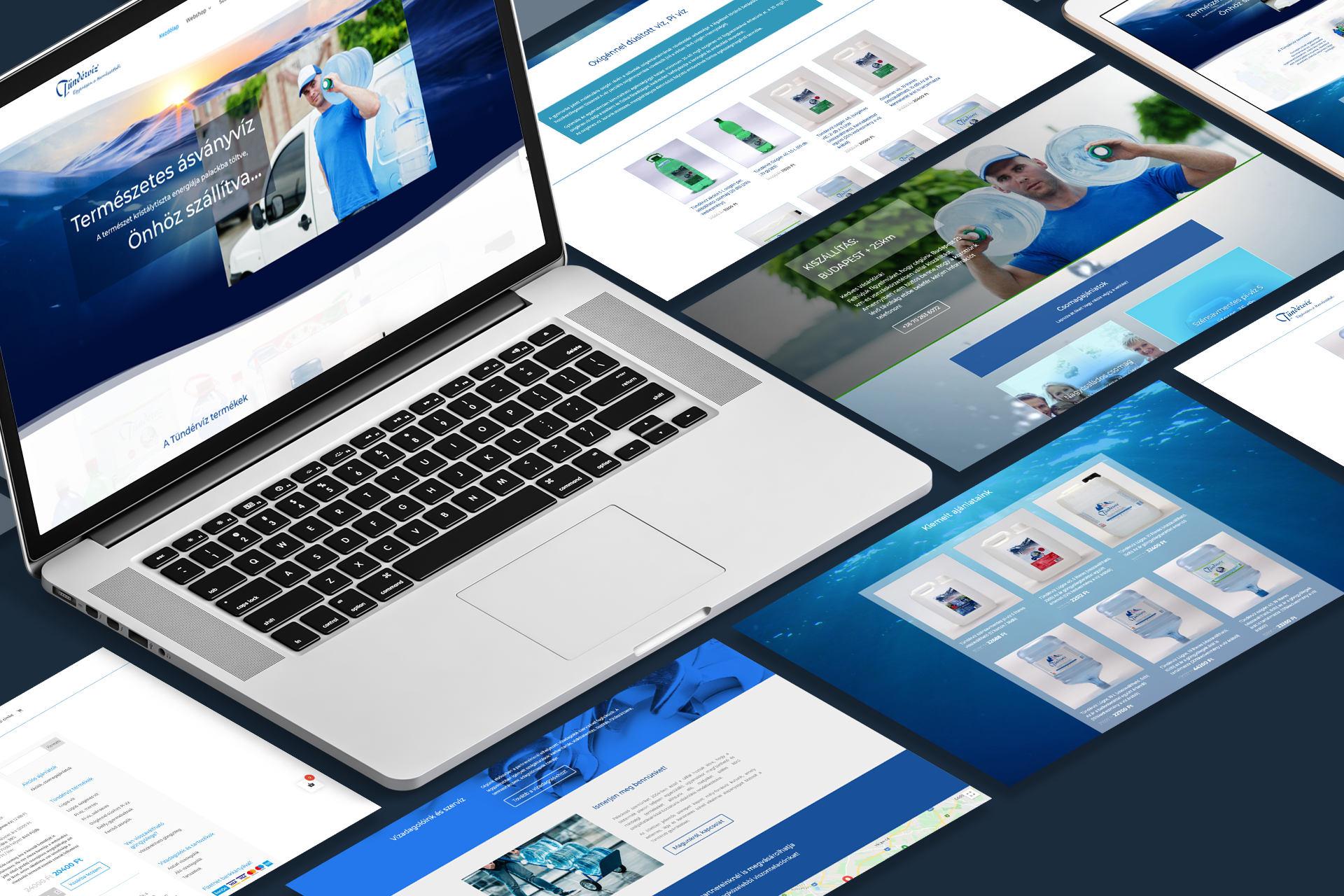 tündérvíz honlap, webshop referencia